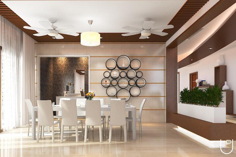Dwellion architects and interior designers in anna nagar for Dining hall interior design