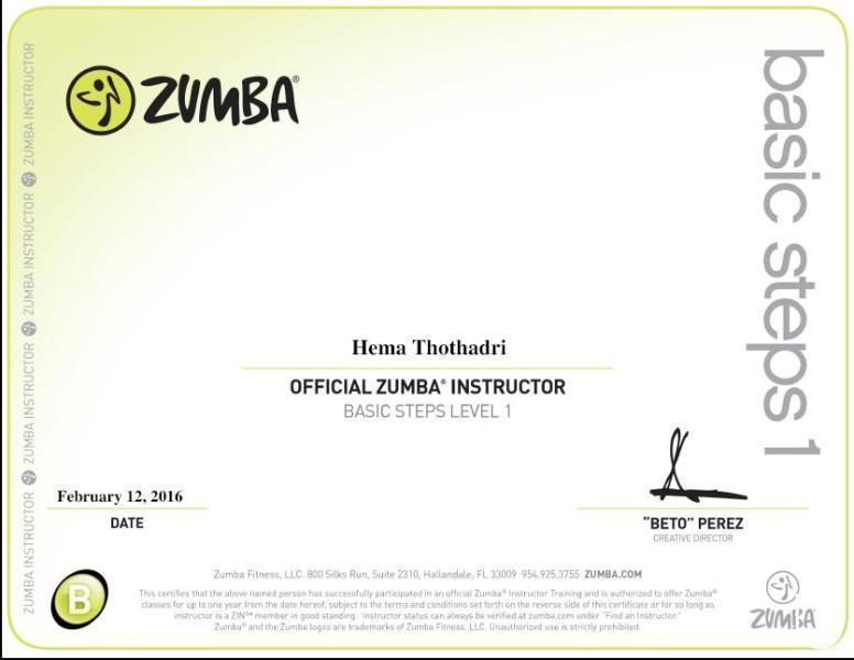 Hema T Zumba Fitness Kickboxing Dance In Indiranagar Bangalore