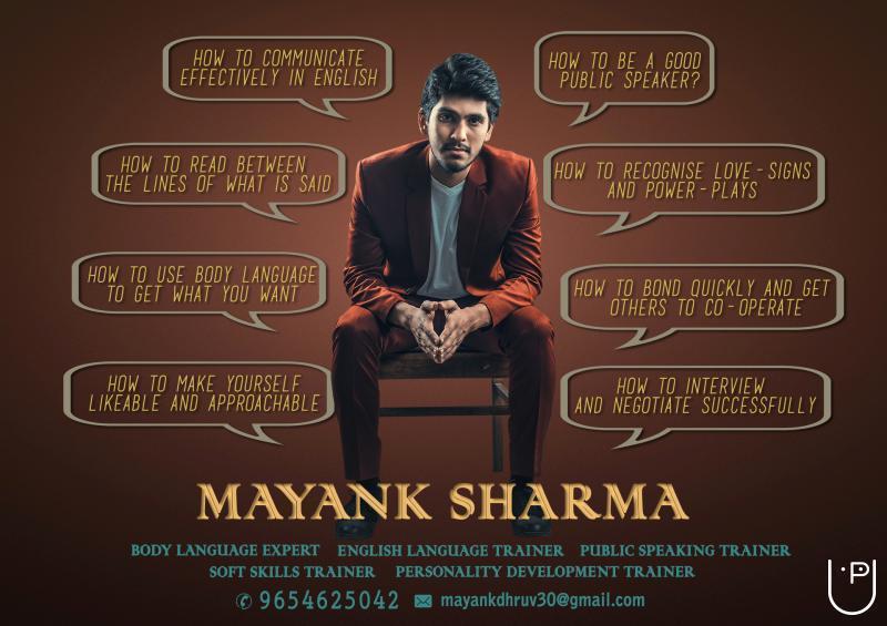 Mayank Sharma - English language trainer, Soft skills