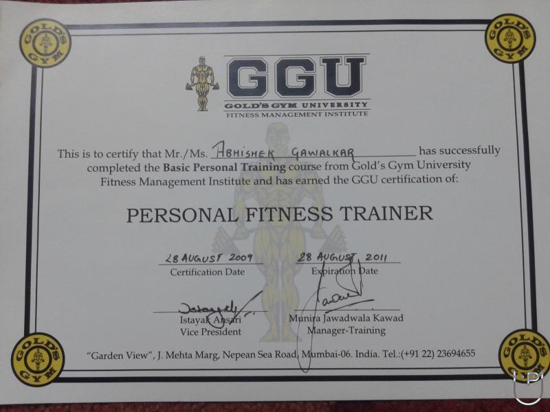 Abhishek Gawalkar Fitness Trainer In Bhandup West Mumbai For Gym