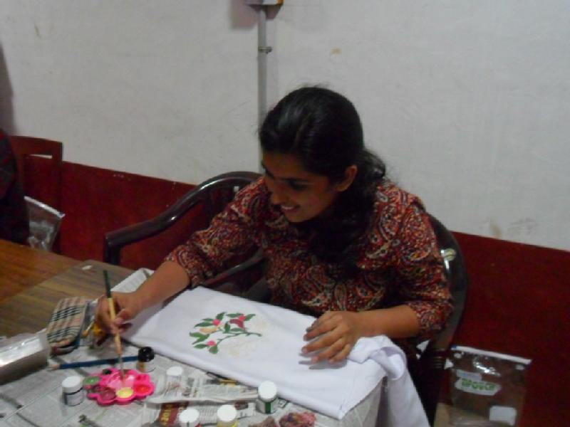 Sujatha Vasant Rao Tailoring Hand Embroidery Fabric Painting Online Skype