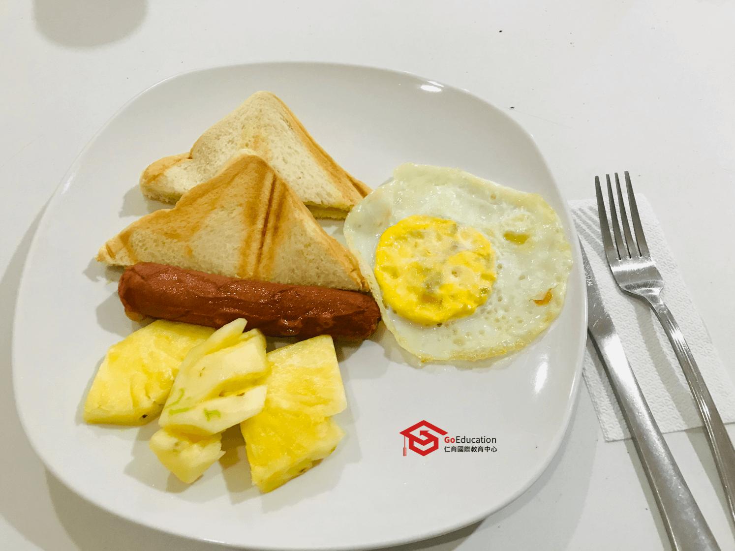 winning語言學校早餐