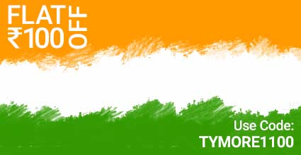 Crown Travels Republic Day Deals on Bus Offers TYMORE1100