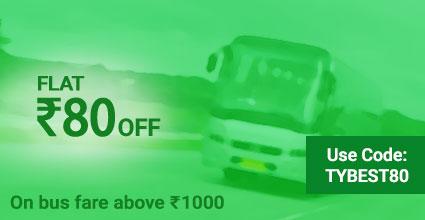 Baroda To Amet Bus Booking Offers: TYBEST80