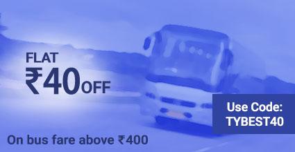 Travelyaari Offers: TYBEST40 from Chanderi to Indore