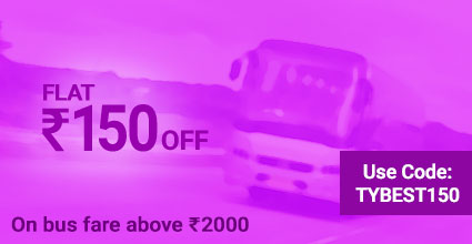 Hyderabad To Indore discount on Bus Booking: TYBEST150