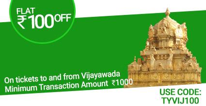 Saligrama To Ranebennuru Bus ticket Booking to Vijayawada with Flat Rs.100 off