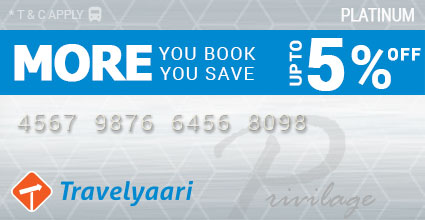 Privilege Card offer upto 5% off Sangli To Hyderabad