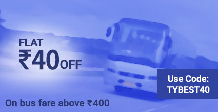 Travelyaari Offers: TYBEST40 from Tonk to Agar