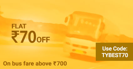Travelyaari Bus Service Coupons: TYBEST70 from Udaipur to Nadiad