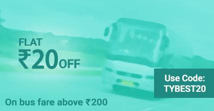 Sahil Travels deals on Travelyaari Bus Booking: TYBEST20