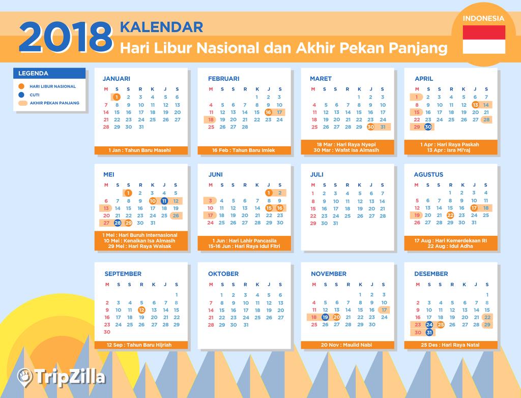 Kalender Libur Nasional dan Long Weekend di Indonesia 2018