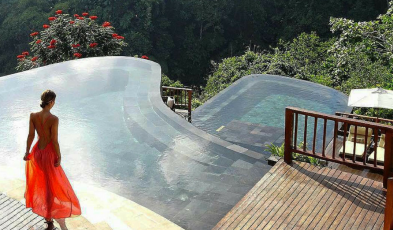 bali resorts infinity pools