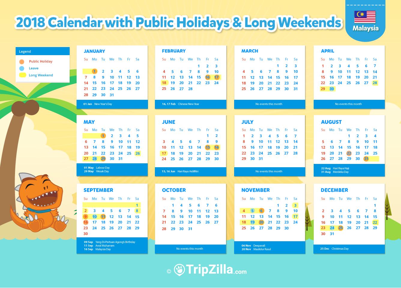 10 Long Weekends In Malaysia In 2018