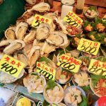 food in tsukiji outer market