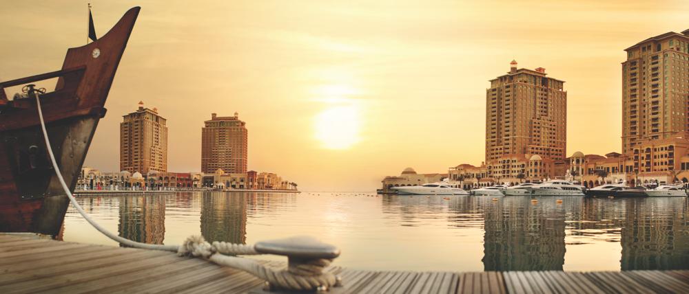 The Pearl-Qatar, man-made island in Qatar