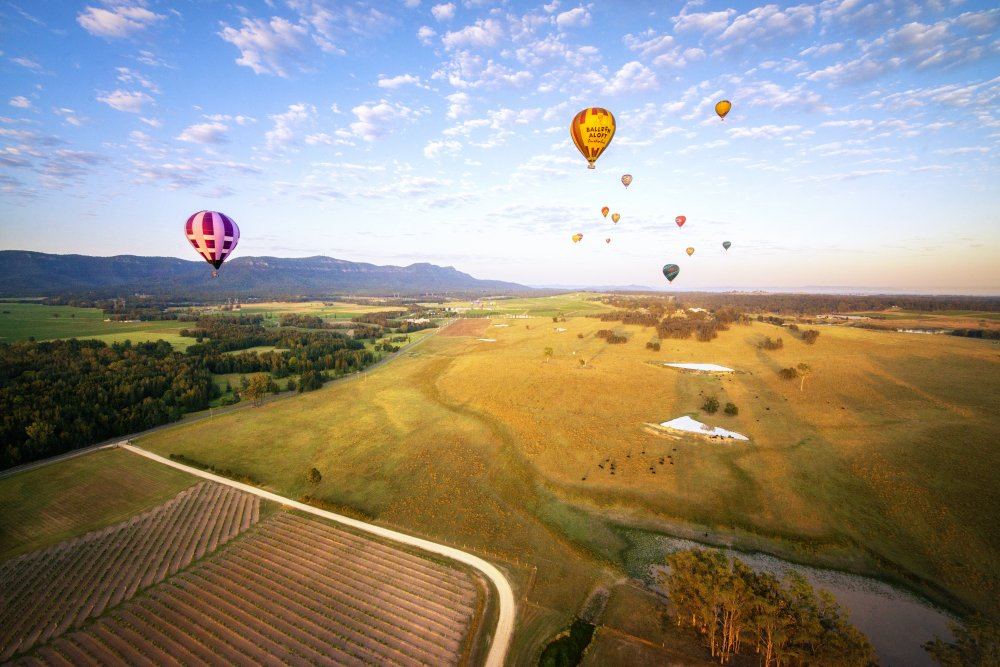 Hot Air Ballooning in Hunter Valley