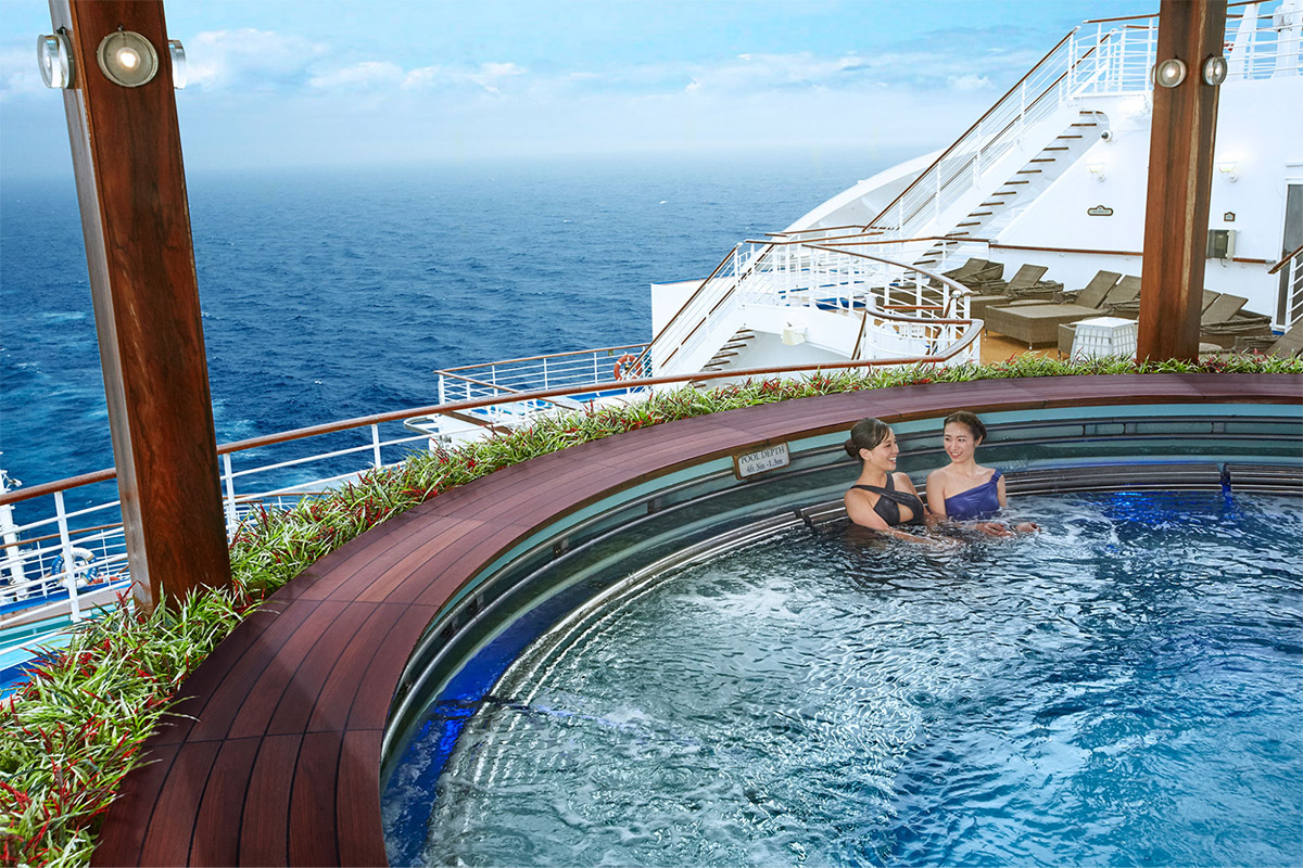 Princess Cruises Outdoor Japanese Onsen
