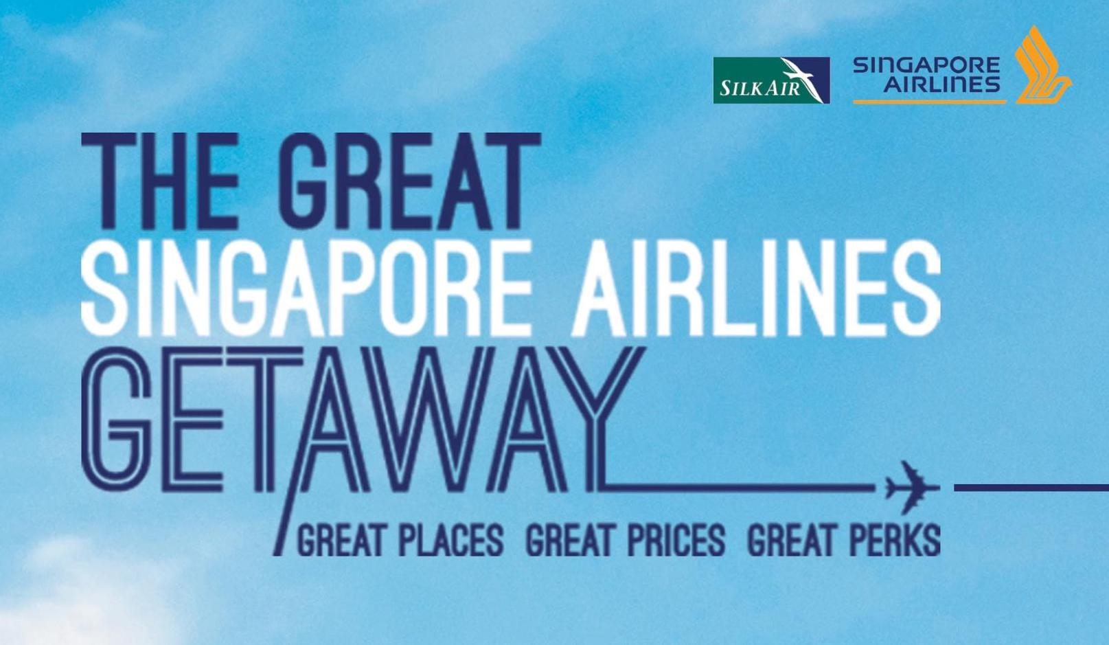 Singapore Airlines Limited Time Promo Fly To 80 Destinations From Ticket  Air Asia Periode 2018 2019 The Great Getaway