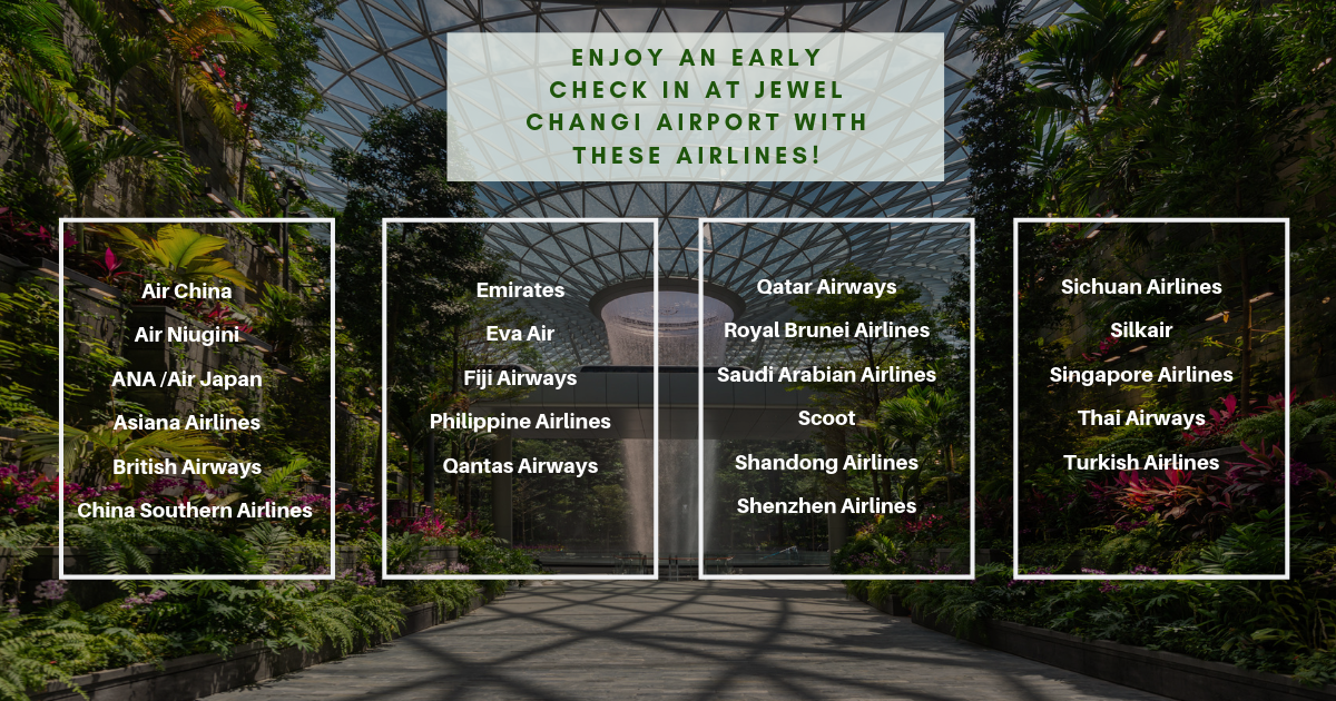 How to Check In Early at Jewel Changi Airport