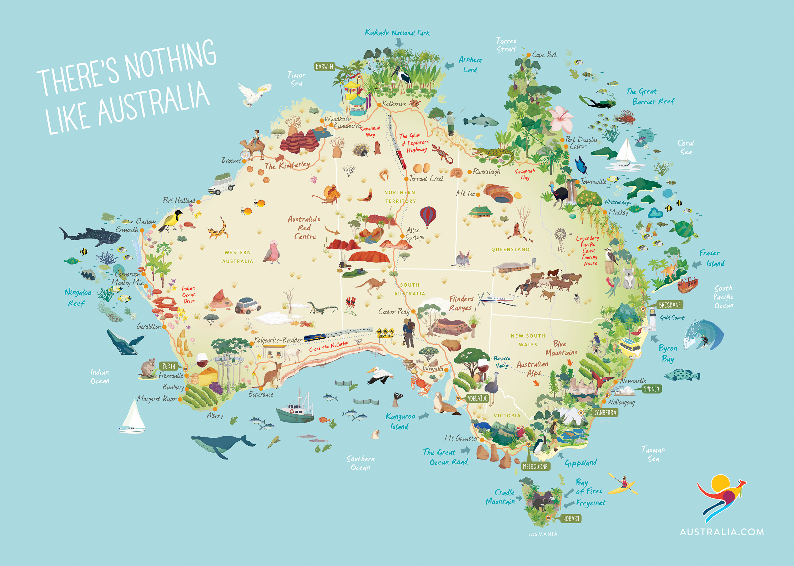 Map Of States Of Australia.The One Thing You Didn T Know About Each Of Australia S 6 States And