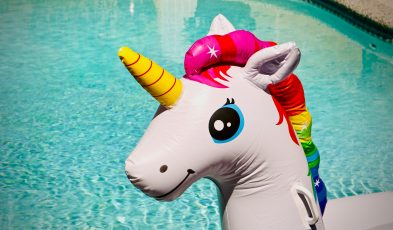 toddler lost at sea unicorn float