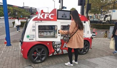 KFC autonomous 5G vehicles