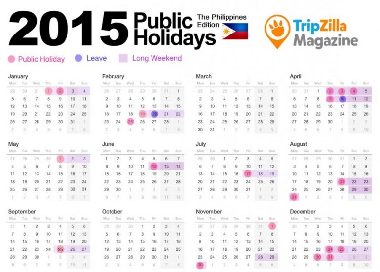 13 Long Weekends in the Philippines in 2015
