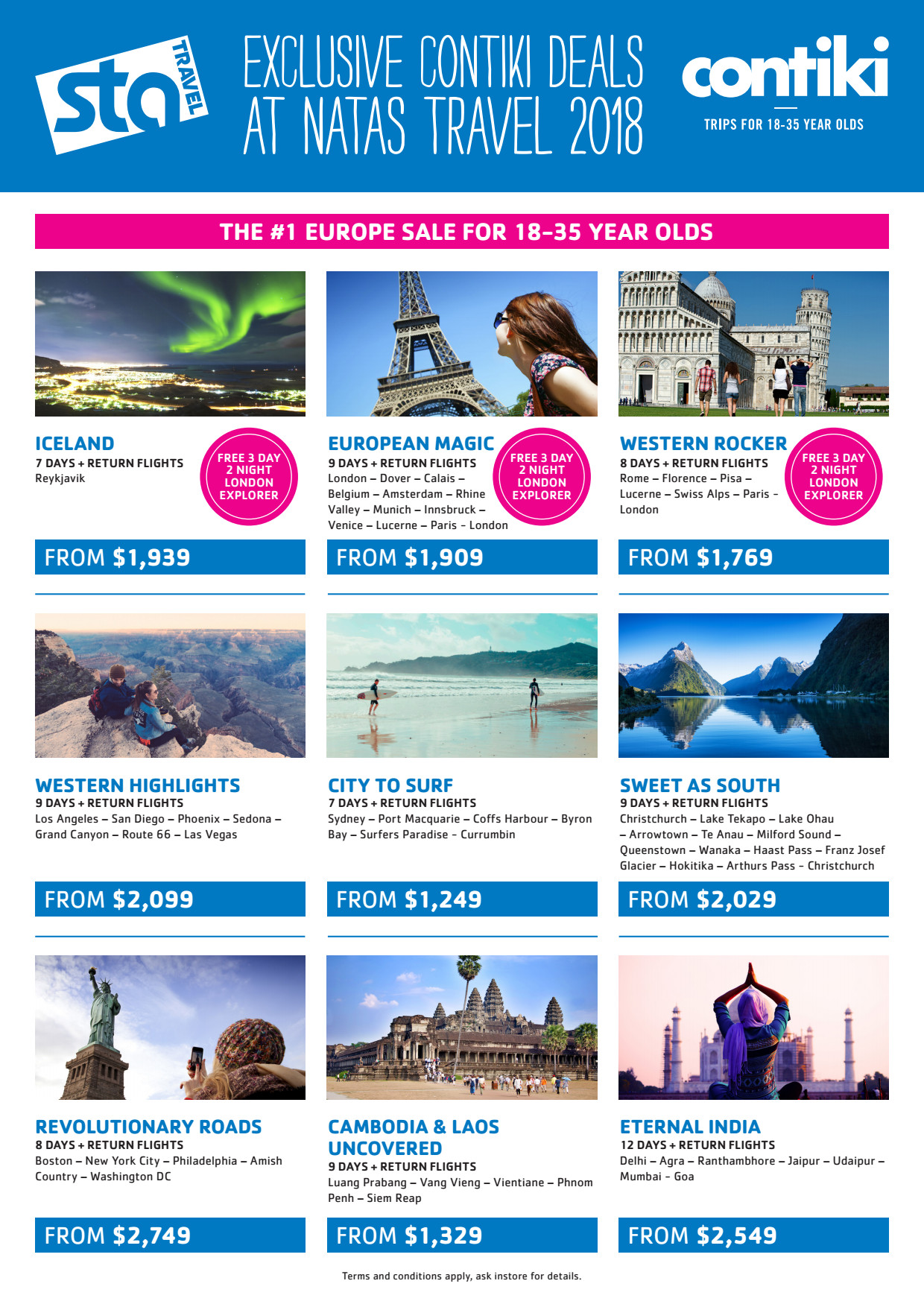 STA Travel For Less. Our coupon hunters want to make sure you get the stuff you want without emptying your pockets. Click the button to check STA Travel's deals page for codes & discounts, and don't forget to sign up for their email list to get deals directly to your inbox. Look at you, smart shopper!