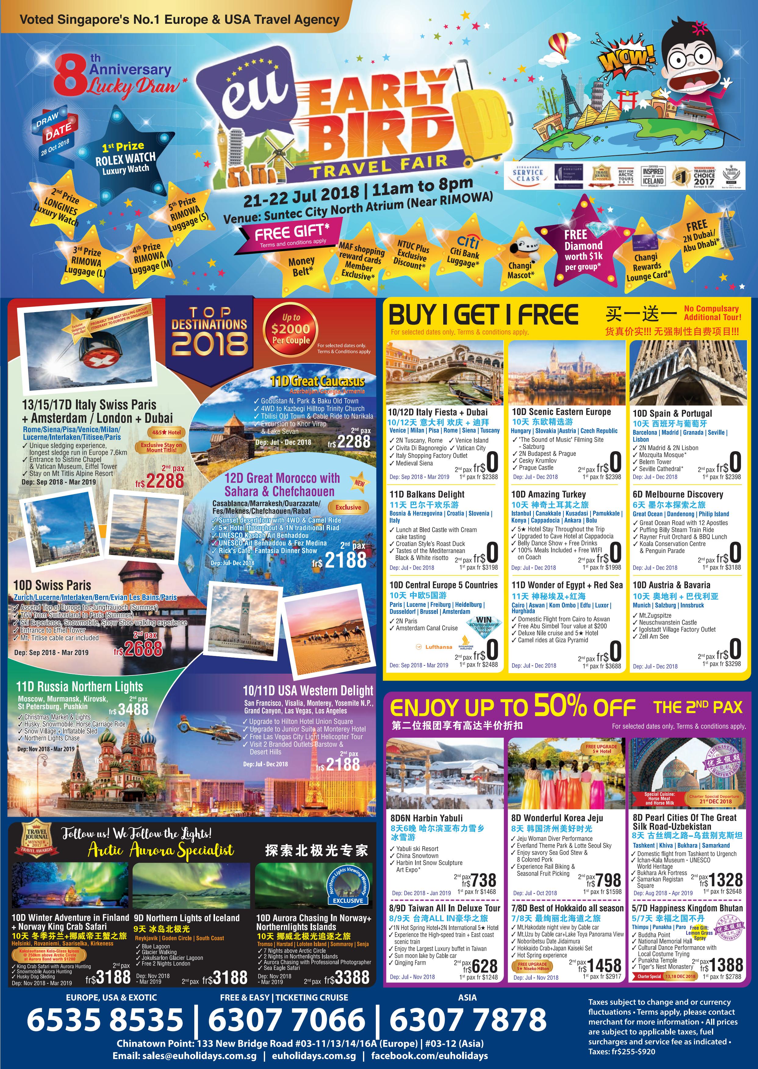 EU Early Bird Travel Fair - Brochures
