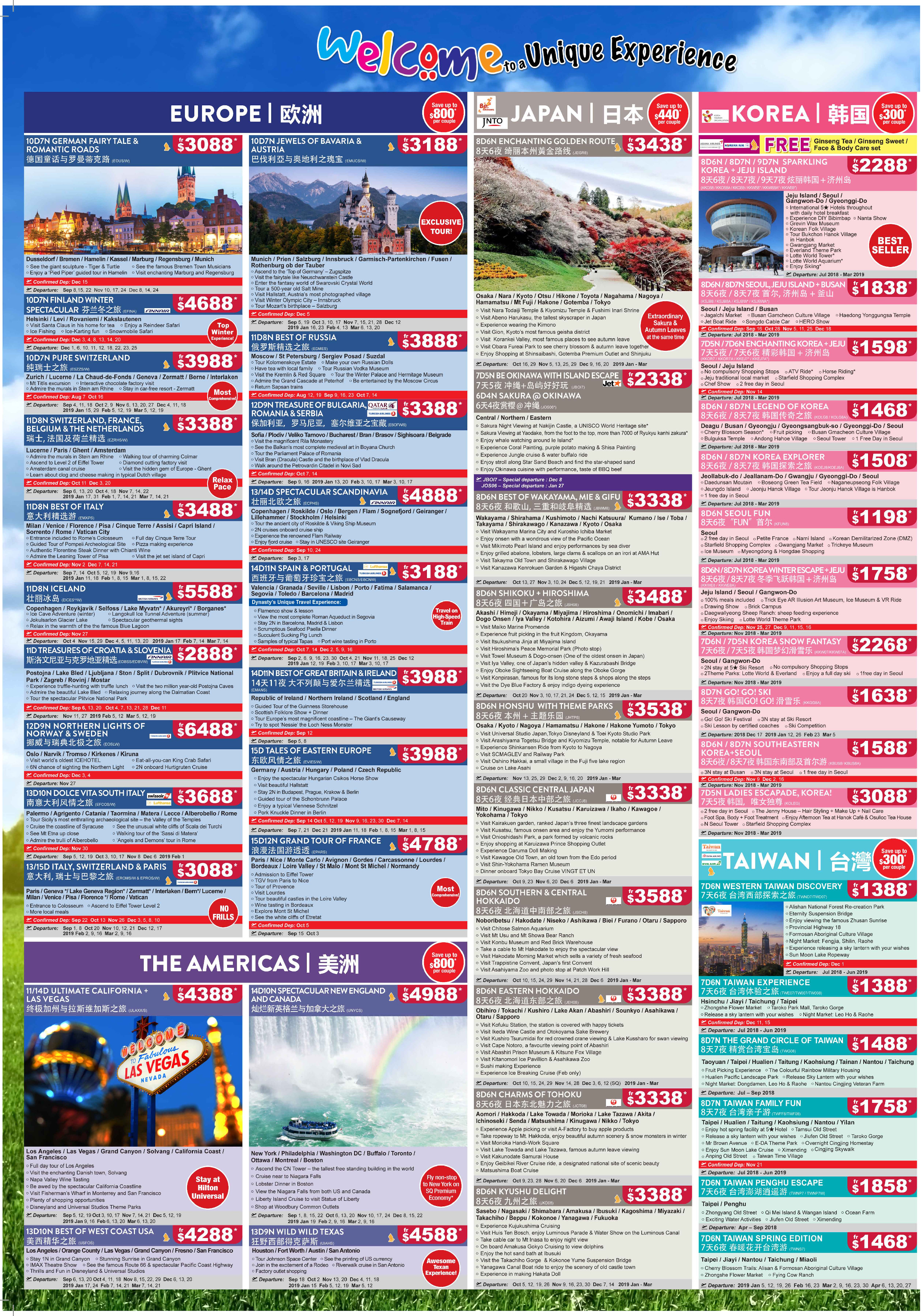The Big Travel Fair Brochures