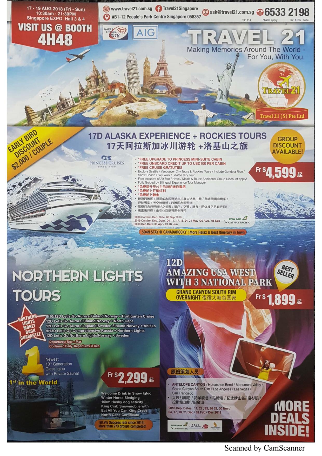 Travel 21 - Brochures