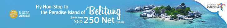 Fly Non-Stop to the Island Paradise of Belitung