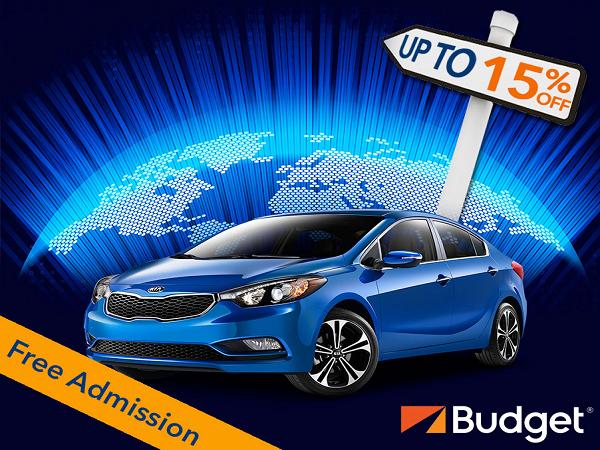 Let Budget car rental be your choice this NATAS - NATAS