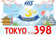 3rd Anniversary Sale with H.I.S INTERNATIONAL TRAVEL