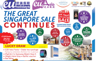 Great Singapore Sales Extended with EU Holidays!