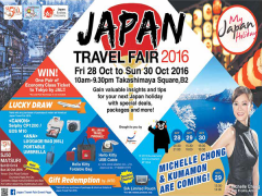 Japan Travel Fair 2016 at Takashimaya Square
