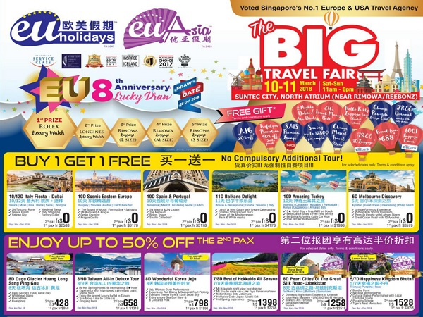 Eu Holidays The Big Travel Fair Brochures