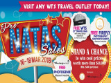 Win more than $14,000 worth of prizes at WTS Travel Pre-NATAS Sales from 16 - 18 March 2018!