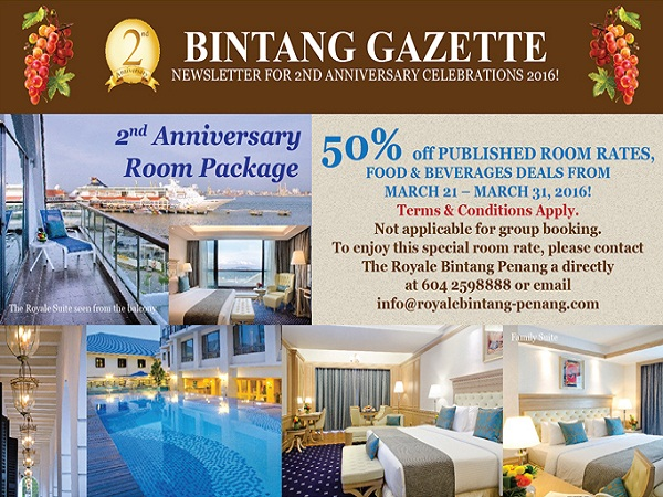 Cheap Hotel Accommodation Deals 2nd Anniversary Promo