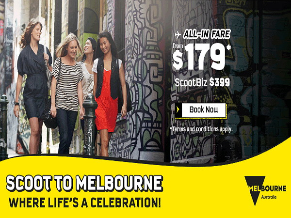 Cheap Air Tickets Deals Scoot To Melbourne From Sgd179