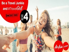 Be a Travel Junkie and Fly with AirAsia from SGD4