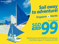 Travel to Philippines from SGD99 with Cebu Pacific Air