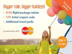 Travel Perks for MasterCard Cardholders from Zuji.com.sg