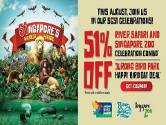 51% Off Celebration Combo at Singapore Zoo and River Safari