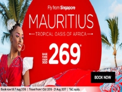 Fly to Mauritius with AirAsia from SGD269*