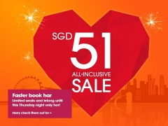 Book and Fly from SGD51 All-inclusive Sale with Jetstar
