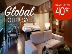 Global Hotel Sale with 40% Savings via Hotels.com