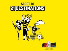 Enjoy 20% Off to 21 Scoot Destinations with UOB Cards!