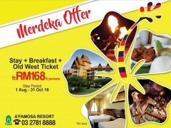 Join the Celebration of Malaysia Independence at A'Famosa from RM168 for 2pax